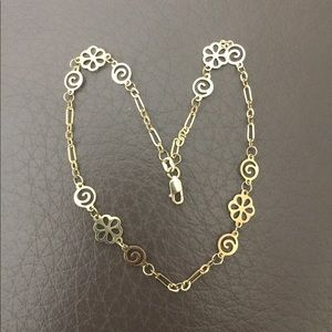Jewelry - So Unique and Special 14 k Stamped Anklet